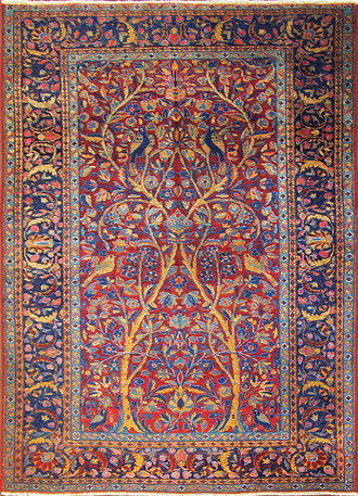 Three of Life Manchester Kashan Rug