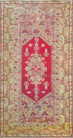 Long Antique Turkish Ghiordes Rug