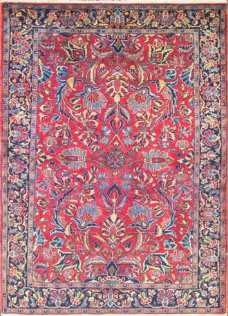 Extraordinary Antique Persian Manchester Wool Mohajeran  Sarouk Rug