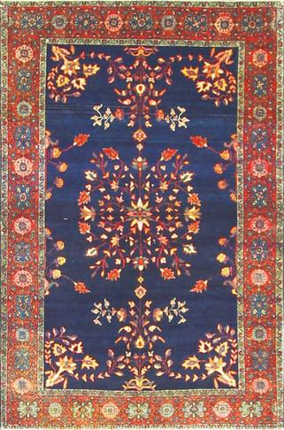 Fine blue Feraghan Sarouk Rug