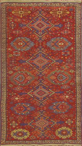 Antique Soumak Caucasian Rug