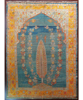 An Angora Ushak Carpet