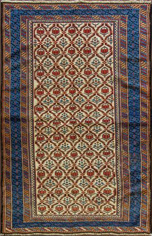 A Seyshor ( Zachour ) Caucasian Rug.