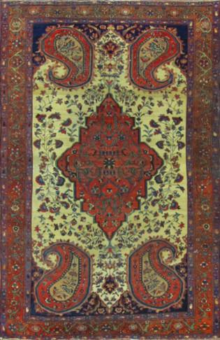 Fascinating Fine Antique Feraghan Sarouk