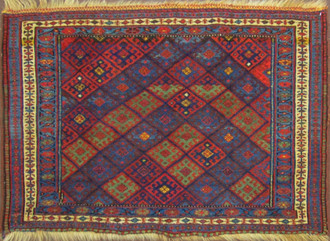 Arabesque and Craycraft Jaf Kurd bag face second half 19th C