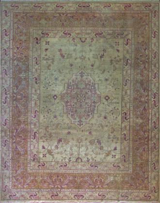 Antique Amritsar/ Agra Carpet, 10' x 13'
