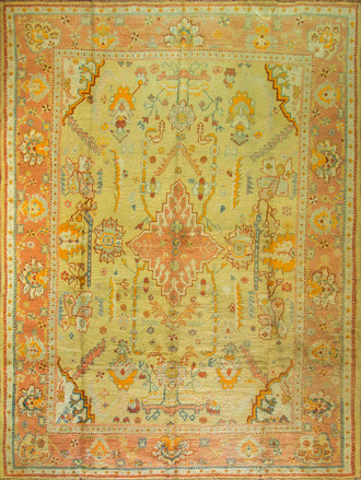 An Antique Oushak carpet