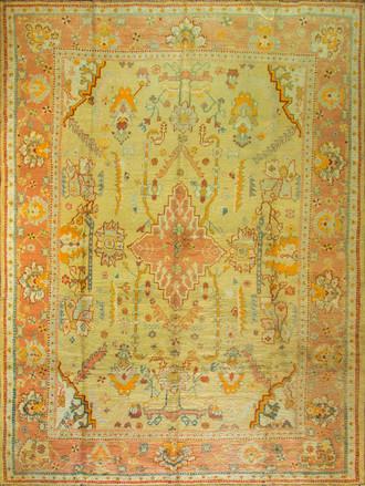An Antique Oushak carpet