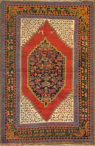 """Antique Karabagh/Caucasian Rug, 4'8"""" x 7' Unique"""
