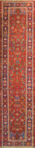 Antique Persian Halwai Bidjar Runner,