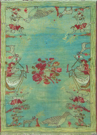 An Oushak Pictural Rug