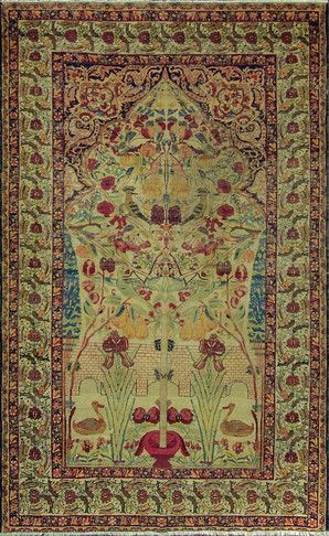 striking Antique Kermanshah Rug