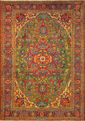 Persian Heriz Carpet, Singed.