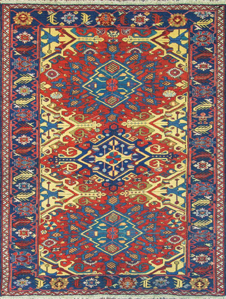 Antique Soumak Caucasian Rug