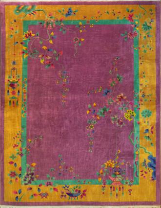 Stunning Art Deco Chinese Carpet