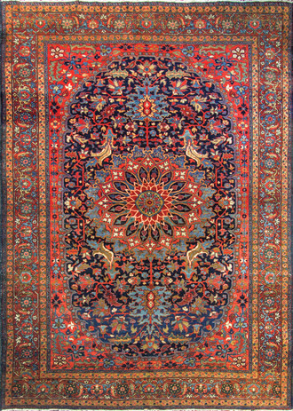Antique Persian Heriz Sherabian Carpet