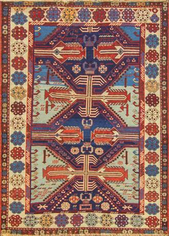 Amazing Antique Caucasian Shirvan Rug