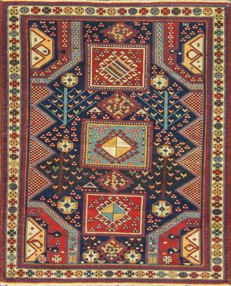 Incredible Antique Caucasian Baku Rug