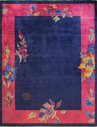 "8'9"" x 11'8"" Incredible Antique Art Deco Chinese Oriental Carpet,.16868"