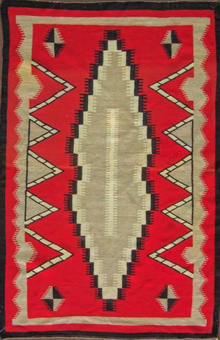 Unusual Eye-dazzler Navajo Rug