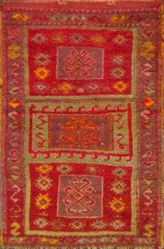 Antique Oushak Small Rug