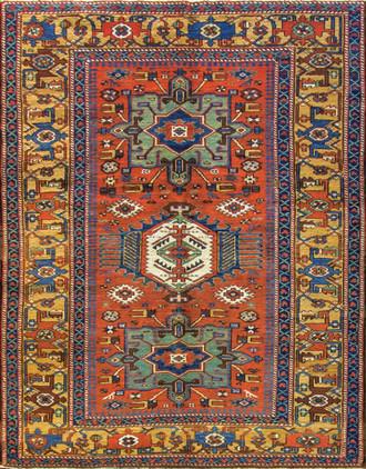 Amazing Persian Karaja / Serapi Rug