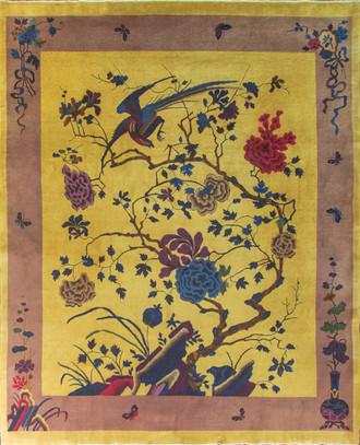 Chinese Art Deco Rug 1920's Antique