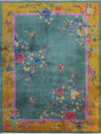 Antique Art Deco Carpet, Superb
