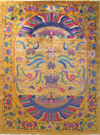 Antique Art Deco Carpet, Dynasty Rug