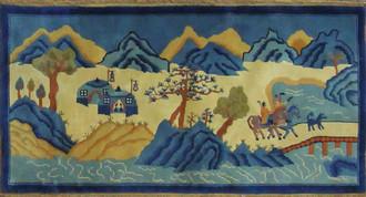 Antique Art Deco/Peking Rug, Scene Design