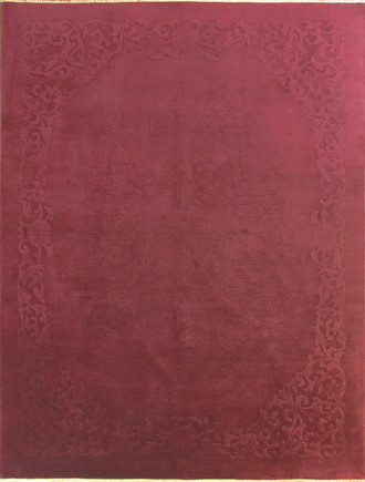 Antique Art Deco Carpet, Solid Purple