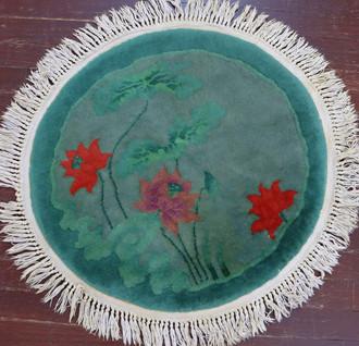 Antique circular Art Deco Rug